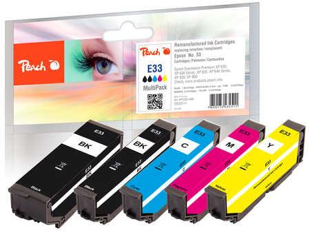 Peach  Spar Pack Tintenpatronen kompatibel zu Epson Expression Premium XP-830