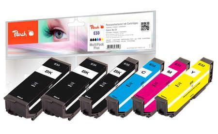 Peach  Spar Pack Plus Tintenpatronen kompatibel zu Epson Expression Premium XP-830