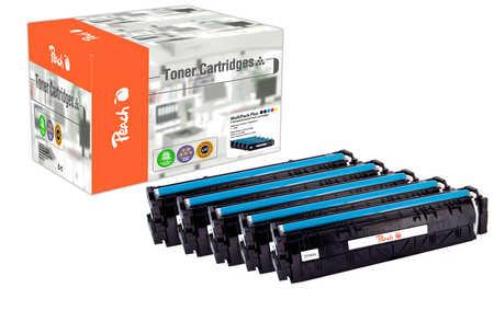 Peach  Spar Pack Plus Tonermodule kompatibel zu HP Color LaserJet Pro M 254 dw