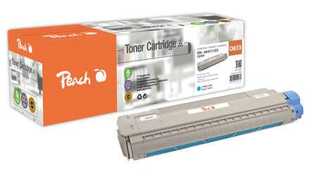 Peach  Tonermodul cyan kompatibel zu OKI C 843 dn