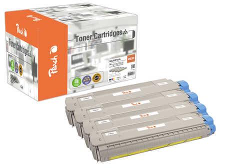 Peach  Spar Pack Tonermodule kompatibel zu OKI C 843 dn