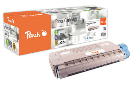 Peach  Tonermodul cyan kompatibel zu OKI C 710 DTN