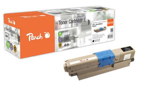 Peach  Tonermodul schwarz kompatibel zu OKI C 310 DN