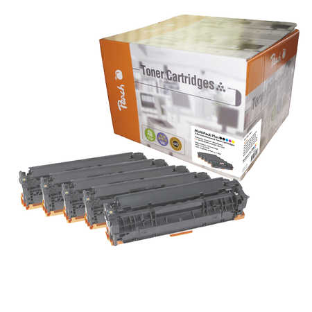 Peach  Spar Pack Plus Tonermodule kompatibel zu HP Color LaserJet CM 1300 Series