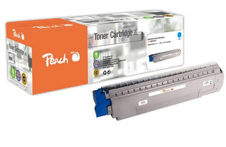 Peach  Tonermodul cyan kompatibel zu OKI MC 851 CDTN
