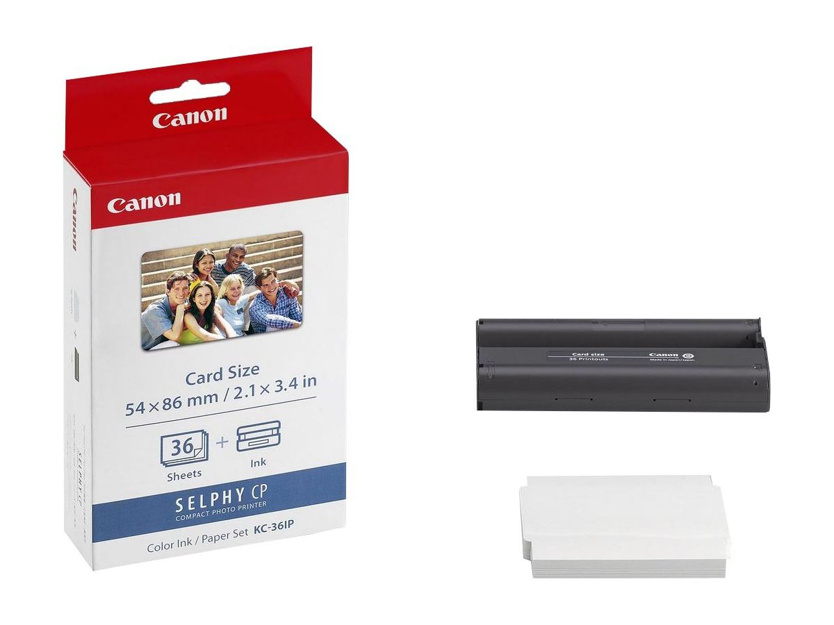 Original  Tintenpatrone color und Papierset Canon Card Photo Printer CP 100