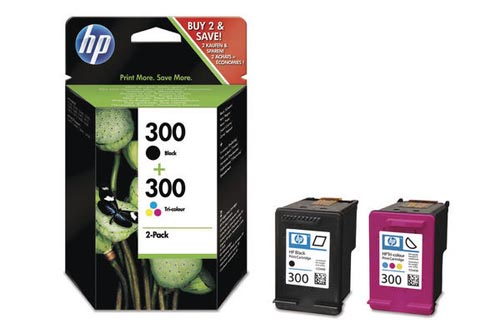 Original  Combopack Tinte schwarz, color HP DeskJet F 4213