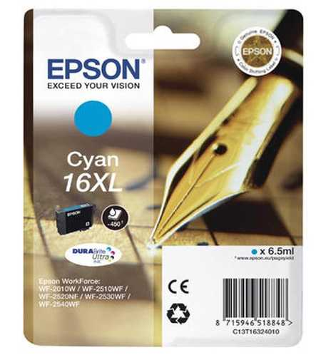 Original  Tintenpatrone XL cyan Epson WorkForce WF-2530 WF