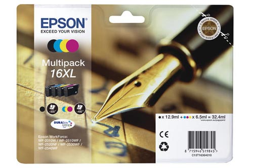 Original  Multipack Tinte XL BKCMY Epson WorkForce WF-2530 WF