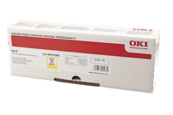 Original  Tonerpatrone gelb OKI C 610 DN