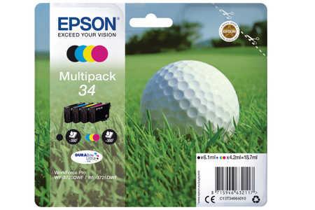 Original  Multipack Tinte BKCMY Epson WorkForce Pro WF-3700 Series