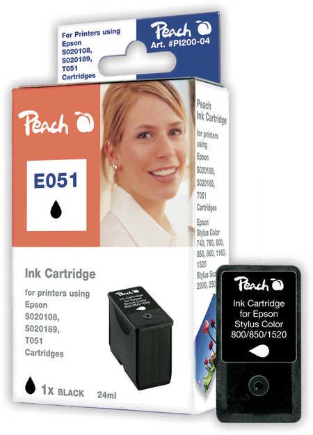 Peach  Tintenpatrone schwarz kompatibel zu Epson Stylus Color 1160