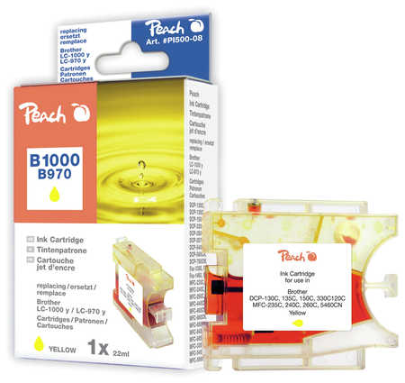 Peach  XL-Tintenpatrone gelb kompatibel zu Brother DCP-130 C