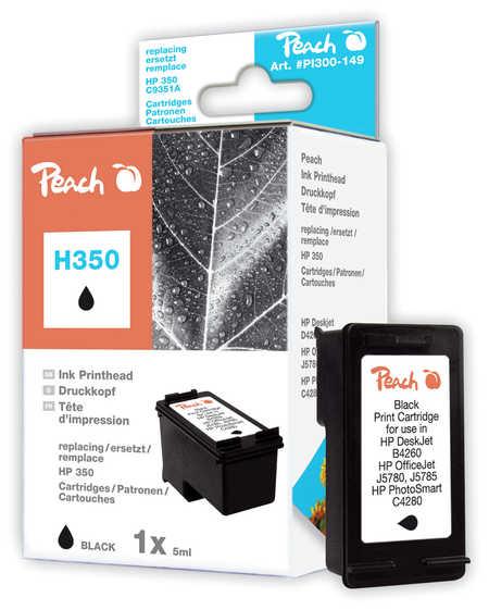 Peach  Druckkopf schwarz kompatibel zu HP PhotoSmart C 5240