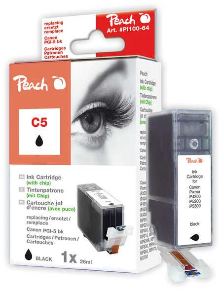 Peach  Tintenpatrone schwarz kompatibel zu Canon Pixma IP 4200