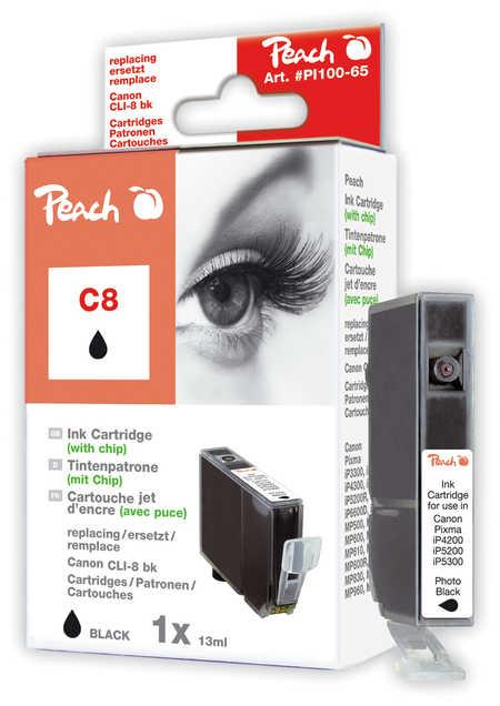 Peach  Tintenpatrone foto schwarz kompatibel zu Canon Pixma IP 4200
