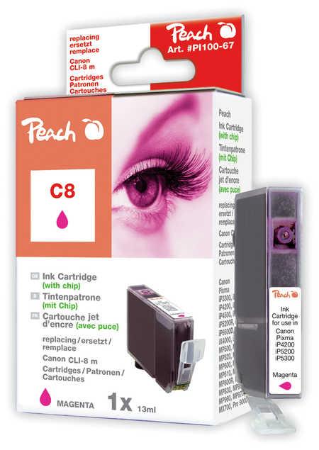 Peach  Tintenpatrone magenta kompatibel zu Canon Pixma IP 4200