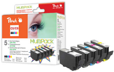 Peach  Spar Pack Tintenpatronen kompatibel zu Canon Pixma IP 4200