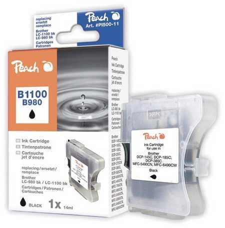 Peach  Tintenpatrone schwarz kompatibel zu Brother DCP-163 C