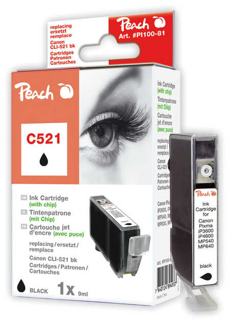 Peach  XL-Tintenpatrone foto schwarz kompatibel zu Canon Pixma MP 620