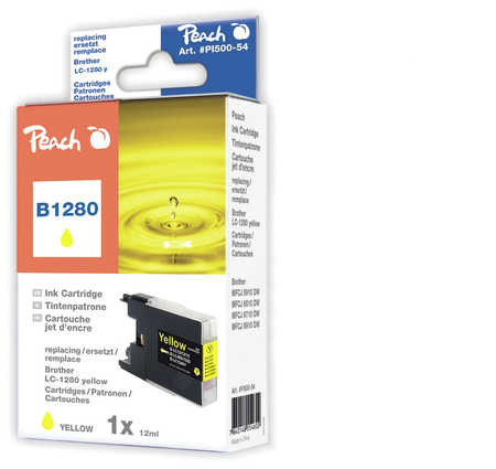 Peach  XL-Tintenpatrone gelb kompatibel zu Brother MFCJ 6510 DW