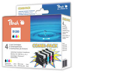 Peach  Spar Pack Tintenpatronen, XL-Füllung, kompatibel zu Brother MFCJ 6510 DW