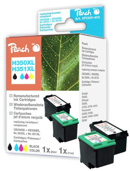 Peach  Spar Pack Druckköpfe kompatibel zu HP PhotoSmart C 5240