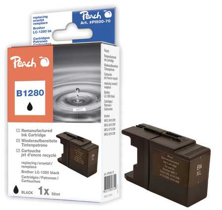 Peach  XL-Tintenpatrone schwarz kompatibel zu Brother MFCJ 6510 DW