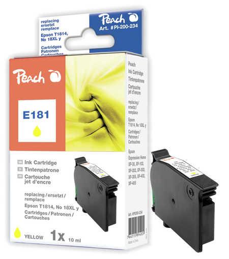Peach  Tintenpatrone gelb kompatibel zu Epson Expression Home XP-405