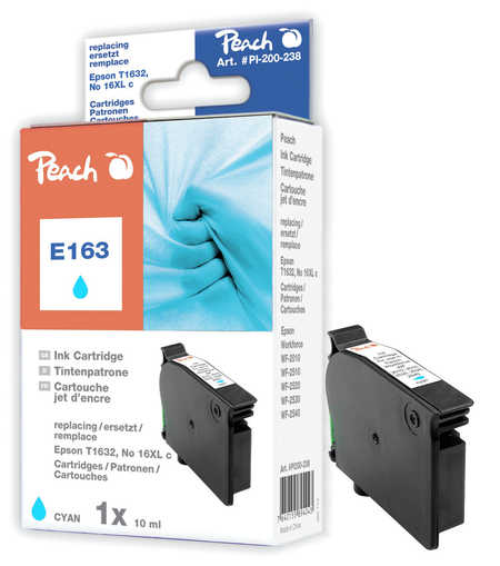 Peach  Tintenpatrone cyan kompatibel zu Epson WorkForce WF-2530 WF