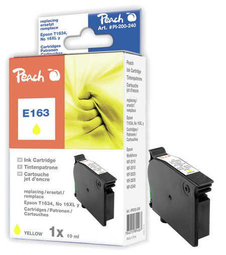 Peach  Tintenpatrone gelb, kompatibel zu Epson WorkForce WF-2530 WF