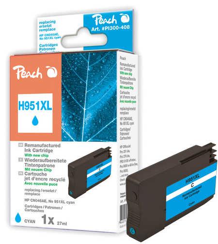 Peach  Tintenpatrone cyan HC kompatibel zu HP OfficeJet Pro 251 dw