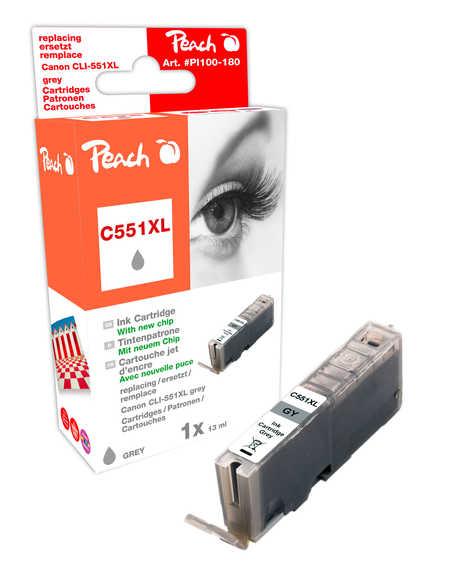 Peach  XL-Tintenpatrone grau kompatibel zu Canon Pixma MG 6350