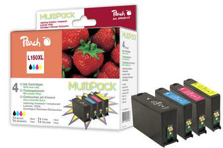Peach  Spar Pack Tintenpatronen, XL-Ergiebigkeit, kompatibel zu Lexmark Intuition S 515