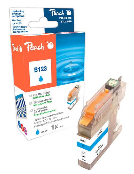 Peach  Tintenpatrone cyan kompatibel zu Brother MFCJ 4310 DW
