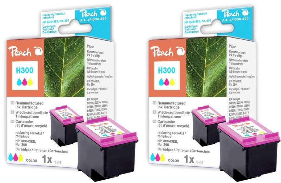 Peach  Doppelpack Druckköpfe color kompatibel zu HP DeskJet F 4213