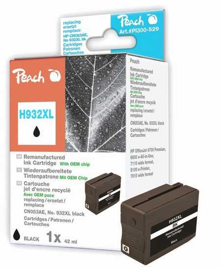 Peach  Tintenpatrone schwarz HC kompatibel zu HP OfficeJet 6700 Premium