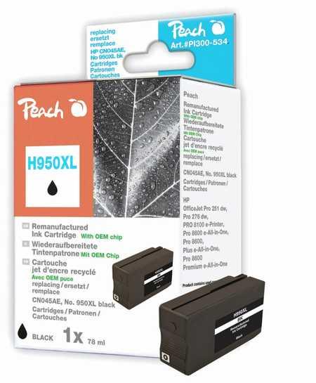 Peach  Tintenpatrone schwarz HC kompatibel zu HP OfficeJet Pro 251 dw