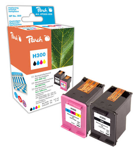Peach  Spar Pack Druckköpfe kompatibel zu HP DeskJet F 4213