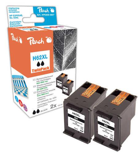 Peach  Doppelpack Druckköpfe schwarz kompatibel zu HP Envy 5661 e-All-in-One