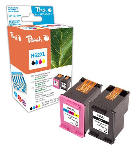 Peach  Spar Pack Druckköpfe kompatibel zu HP Envy 5661 e-All-in-One