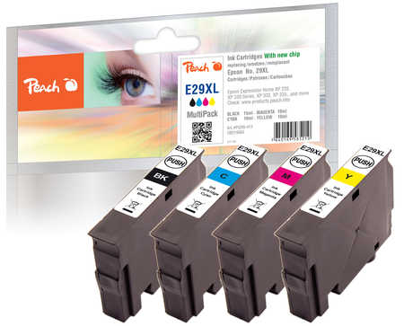 Peach  Spar Pack Tintenpatronen XL kompatibel zu Epson Expression Home XP-452