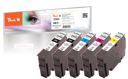Peach  Spar Pack Plus Tintenpatronen XL kompatibel zu Epson Expression Home XP-452
