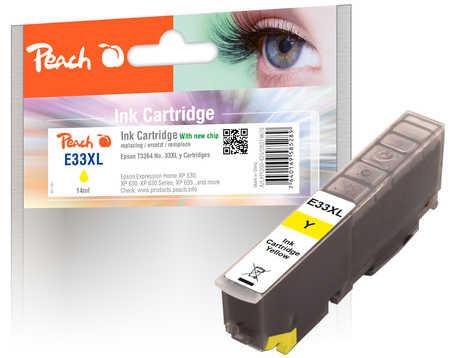 Peach  Tintenpatrone XL gelb kompatibel zu Epson Expression Premium XP-830