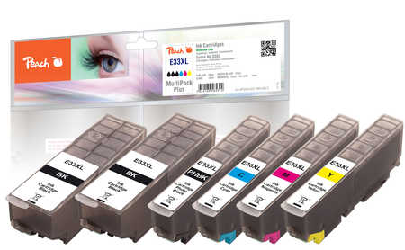 Peach  Spar Pack Plus Tintenpatronen XL kompatibel zu Epson Expression Premium XP-830