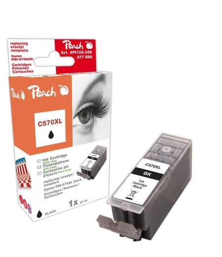 Peach  Tintenpatrone XL schwarz kompatibel zu Canon Pixma TS 6050 Series