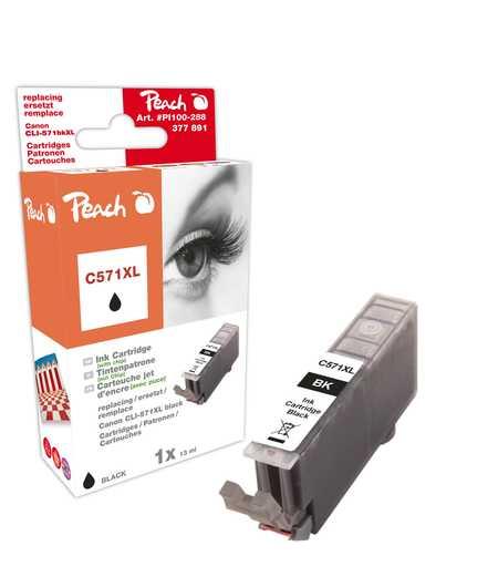 Peach  Tintenpatrone XL foto schwarz kompatibel zu Canon Pixma TS 6050 Series