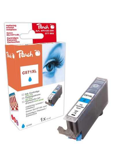 Peach  Tintenpatrone XL cyan kompatibel zu Canon Pixma TS 6050 Series
