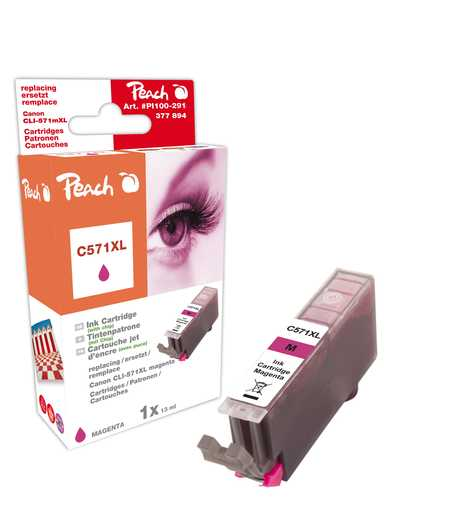 Peach  Tintenpatrone XL magenta kompatibel zu Canon Pixma TS 6050 Series