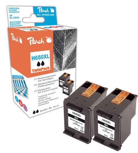 peach doppelpack druckk pfe schwarz kompatibel zu hp deskjet ink advantage 2546. Black Bedroom Furniture Sets. Home Design Ideas